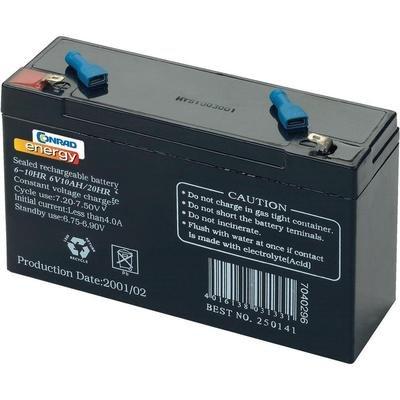 /6/Acide plomb VRLA YUASA NP10/ 10000/mAh 6/V Batterie Rechargeable