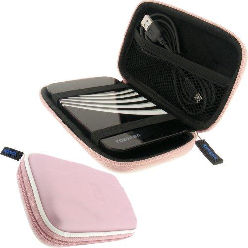 """igadgitz Hartschalentasche Hardcase: Tasche Schutzhülle Hülle Etui Case aus EVA (Ethylenvinylacetat) in Pink Rosa für externe tragbare Festplatte Toshiba STOR.E ALU, ART & STEELE Series 2,5"""" 2,5 Zoll (6,4 cms) 160gB, 250gB, 320gB, 400gB, 500gB & 640gB"""