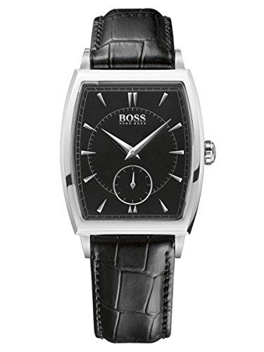 Hugo Boss  1512845 - Reloj de cuarzo para hombre, con correa de cuero, color negro