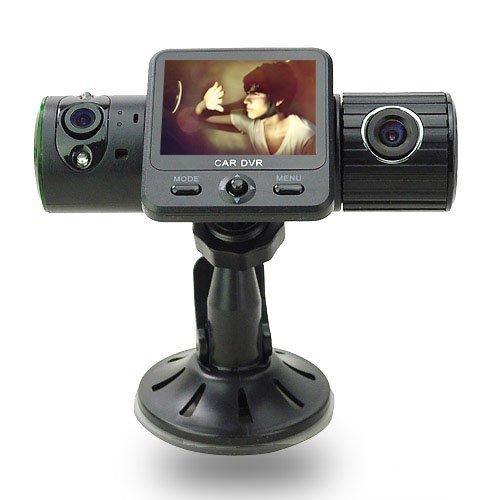 X6000 5.0 Mega Hd Dual Camera Car Dvr Black Box With G-Sensor / Gps / Ir Light