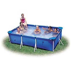 Intex x rectangular metal frame swimming for Small paddling pool