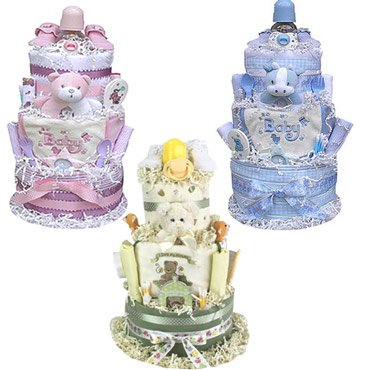 3 Tiered Diaper Cake (Boy, Girl Or Neutral) front-1071908
