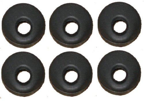 6 Universal Black Rubber Eargel, Earbud, Ear Bud Replacement - Compatable With: Jawbone, Lg, Motorola, Samsung, Jabra / Motorola Hk100 Hk200 Hk201 Hk202 H12 H15 H270 H375 H385 H390 H560 H680 H681 N136 Lg Hbm230 Hbm235 255, 260 Samsung Hm1000 Hm1100 1200,