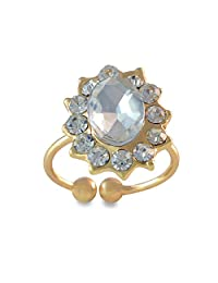 Oval Design Adjustable Gold Toe Ring For Women By Sarah