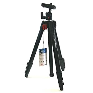 Manfrotto 725B Digi Tripod with Integrated Ball Head with Dove Tail Plate and Carrying Bag (Black)