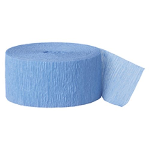 Crepe Paper Streamer, 81' roll. BLUE