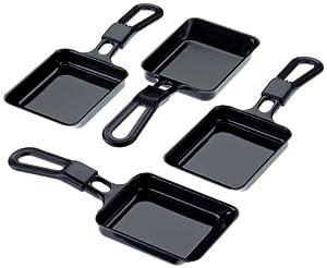 Universal Raclette-Pfännchen 4er Set / STEBA / Raclettepfännchen / Raclette Pfännchen