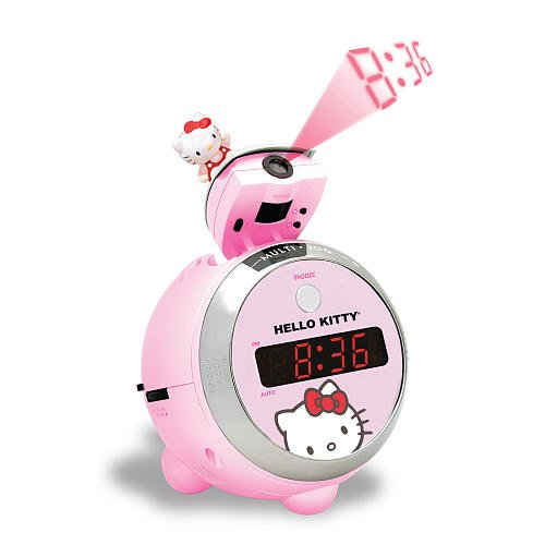 Hello Kitty Kt2054 Projection Clock Radio Alarm Clocks