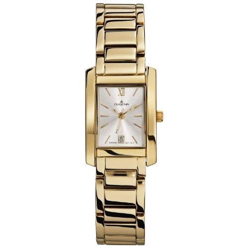 Dugena 4460437 - Reloj analógico de cuarzo para mujer con correa de piel, color negro