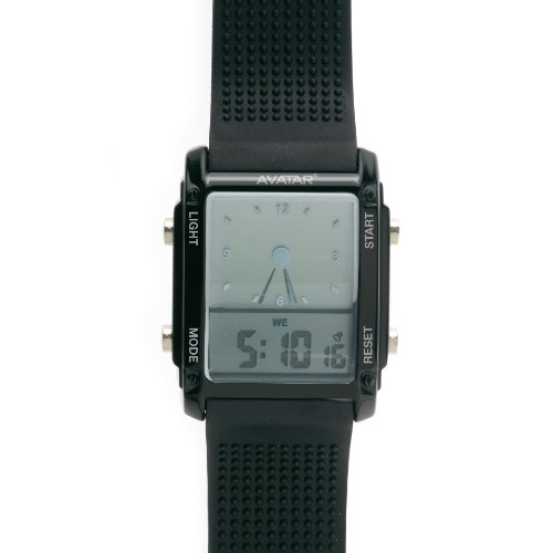 Zoppini-Avatar 0601-Black Rubber Watch