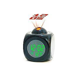 LOHOME(TM) Multi-Function Mini Desktop Digital Weather Projection Wake-Up Alarm Clock Timer, LCD Backlight, Temperature Display