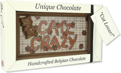 Large 'Cats Crazy' Belgian Milk Chocolate Gift...
