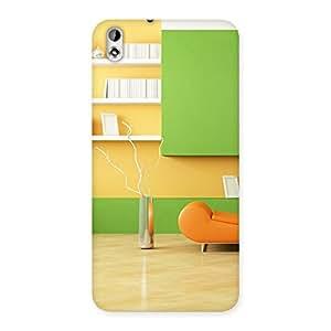 Pleasant Home Multicolor Back Case Cover for HTC Desire 816g