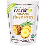 Nature's All Foods Organic Freeze-Dried Pineapple, 1.5-Ounce Packages (Pack of 3)