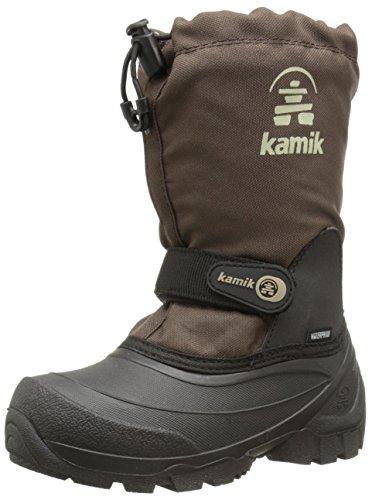 Kamik Snoday Insulated Winter Boot (Toddler/Little Kid/Big Kid), Dark Brown, 5 M US Big Kid