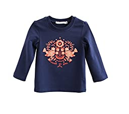Justcosy Unisex-baby Trendy Cotton Long Sleeve Under Shirt L Blue
