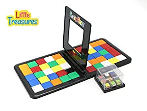 The Magic Rubik Tile Race Game Set from Little Treasures Comes with 2 Play Areas where Players Compete to Complete the Puzzle