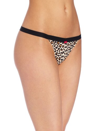 Betsey Johnson Women's Microfiber Everyday Thong