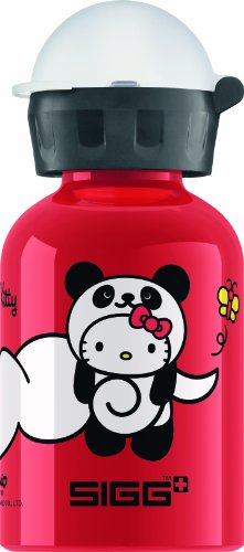 sigg trinkflasche hello kitty panda rot 0 3 liter. Black Bedroom Furniture Sets. Home Design Ideas