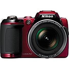 Nikon Coolpix L120 Digital Camera (Red)