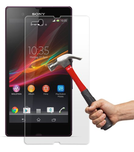 PThink 0.3mm Ultra-thin Tempered Glass Screen Protector for Sony Xperia Z L36H/C6602/C6603 with 9H Hardness/Perfect Anti-scratch/Shatterproof/Fingerprint & water & oil resistant (Sony Xperia Z L36H C6