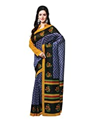 Indian Designer Art Silk Violet Printed Saree - B00MN62NYU