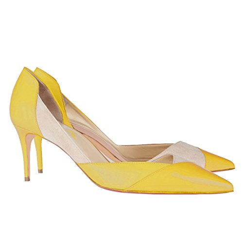 FSJ Women Sexy Dorsay High Heels Pumps Pointed Toe for Dress Party Size 12