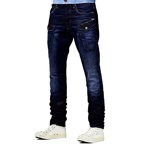 Stylish Fashion 6 Pocket Style Denim Blue Mens Jeans Trouser Pants