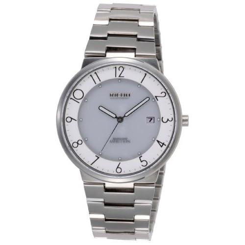 [リコー]RICOH ソーラー腕時計 シュルード・アンビション・スマート アナログ表示 10気圧防水 日付表示 ホワイト 697006-03 メンズ