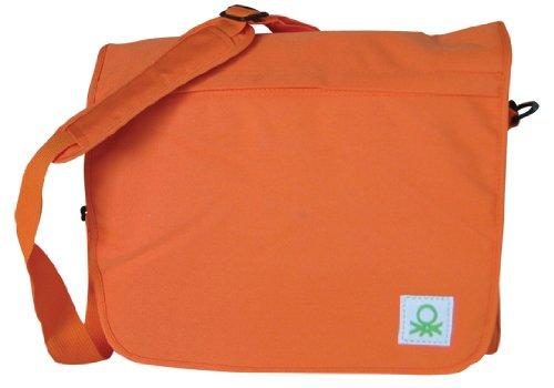 Benetton 34343 - borsa a tracolla arancio,
