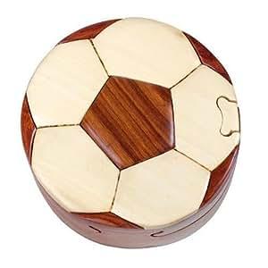 Amazon.com: Intarsia Hand Carved Wood Trinket / Jewelry Box - Soccer