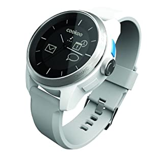 Cookoo Bluetooth 4.0 Watch (Ios Compatitable, Silver/white)