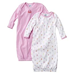 Product Image Newborn Girls' Gerber 2pk Pink Cotton Gown
