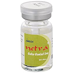 Netra M11 Yearly Disposable Blue Fancy Contact lens, Power 0 (Pack of 1)