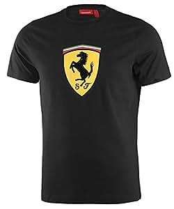Amazon.com: Ferrari Black Kimi Raikkonen #7 Logo Tee Shirt: Clothing