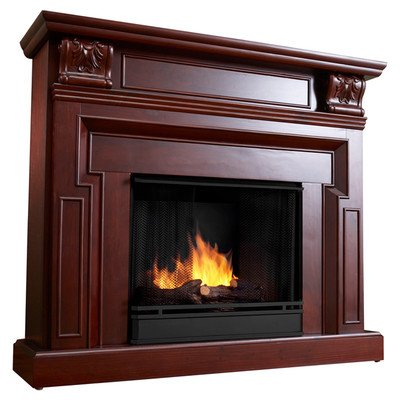 Kristine Ventless Gel Fuel Fireplace Finish: Dark Mahogany image