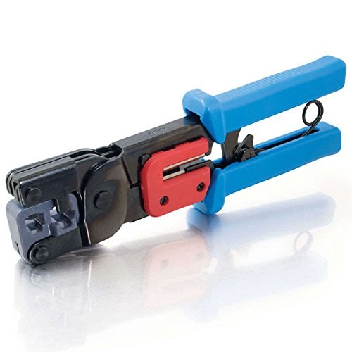 C2G / Cables To Go 19579 RJ11/RJ45 Crimping Tool with Cable Stripper (Black/Blue) (C2g Computer Repair Tool Kit compare prices)
