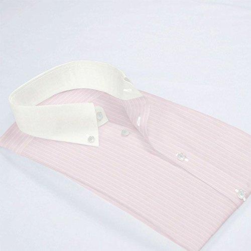ワイシャツ 軽井沢シャツ [A10KZB815]ボタンダウン ショート クレリック ピンクドビー 形態安定 らくらくオーダー受注生産商品