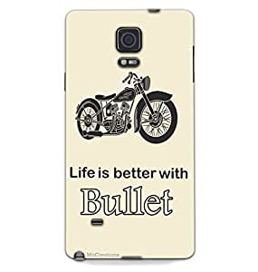 MiiCreations 3D Printed Back Cover for Samsung Galaxy Note 4,Life is better with Bullet