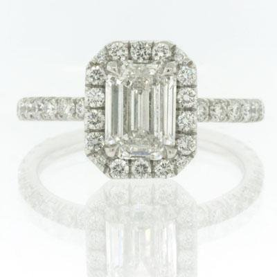 2.33ct Emerald Cut Diamond Engagement Anniversary