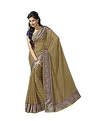 Subhash Sarees Daily Wear Green Color Brasso Saree Sari Sarees