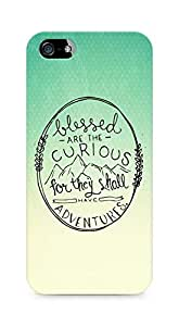 AMEZ Blessed are the curious Back Cover For Apple iPhone 5s