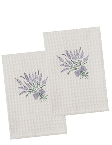 The Designs of Distinction Waffle Guest Towel, Lavender