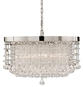 Uttermost 21138 Fascination Crystal Hanging Shade, Chrome Plated Finish