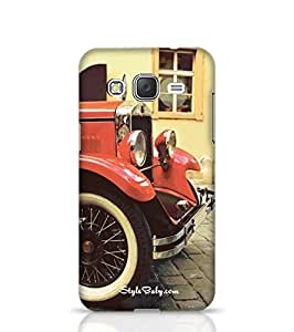 Designer Phone Cases for J2 Red Rarity Vintage Car -Samsung Multicolor
