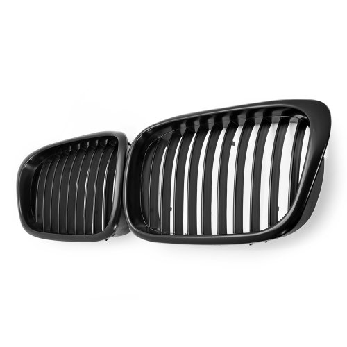 Euro Front Matte Black Kidney Grilles Grill For BMW E39 5-Series 525i 528i 530i 540i M5 4-Door 4D 1997-2003 (Bmw 5 Series Grill compare prices)