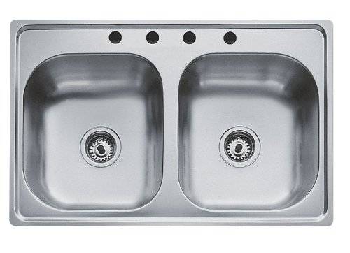 Teka Stainless Steel 33 Inch Top Mount Double Bowl 4 Hole Kitchen Sink Save Prices Power Tools Online 113