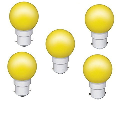 0.5 W LED Light Bulbs Yellow (Set of 5)