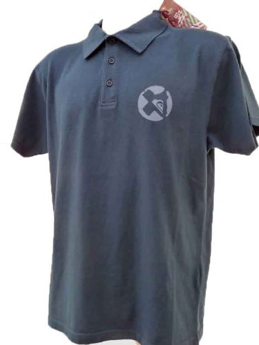 QUIKSILVER Mens Navy Hangloose Polo Top T Shirt. (SIZE SMALL)