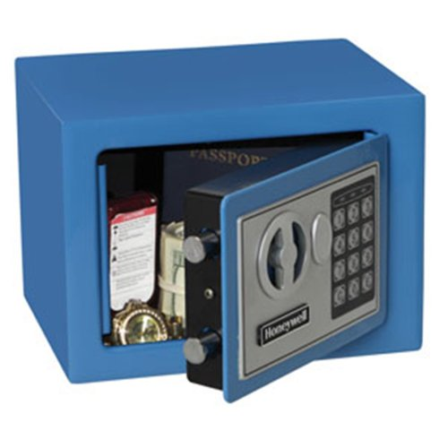 Honeywell 5005B Digital Steel Security Safe, 0.19-Cubic Feet, Blue (Honeywell Safes compare prices)
